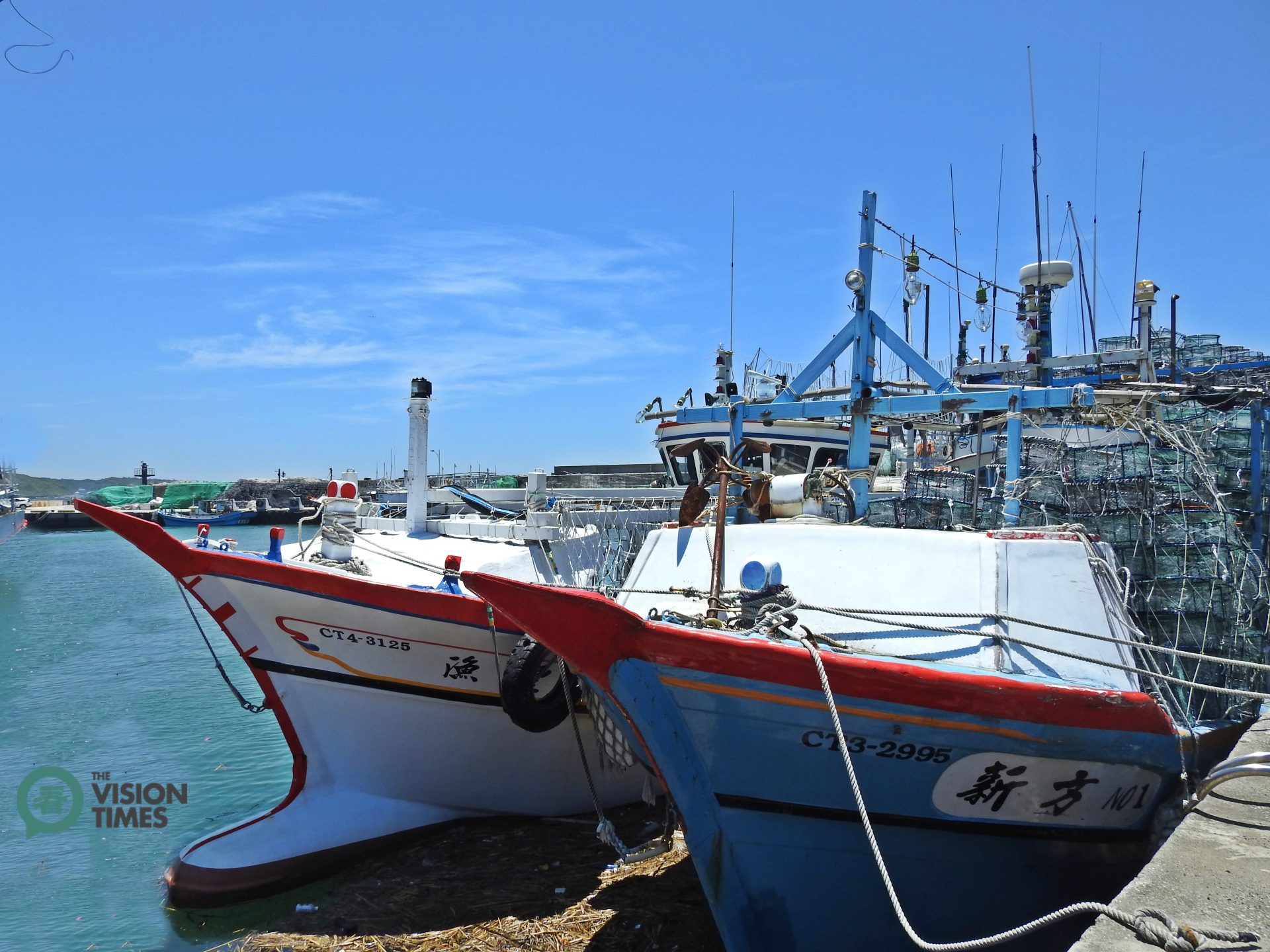 There are about 50 fishing boats in Wanli District that are engaged in the crab fishery. (Image: Billy Shyu / Vision Times)