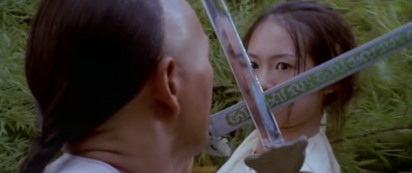 Crouching Tiger Hidden Dragon is about two warriors in pursuit of a stolen sword and a notorious fugitive are led to an impetuous, physically skilled, adolescent nobleman's daughter, who is at a crossroads in her life. (Image: YouTube/Screenshot)