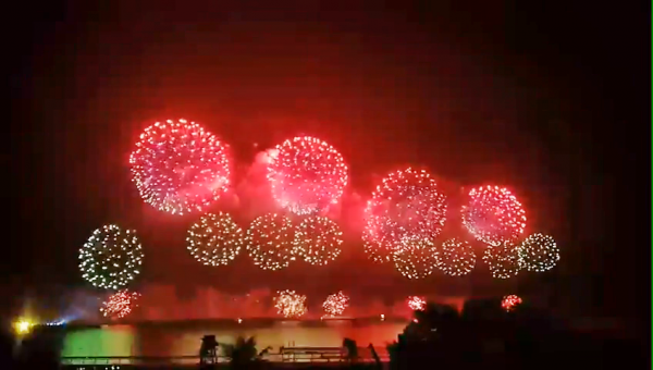 The national fireworks show was held at the Port of Hualien in eastern Taiwan's Hualien County. (Image: Courtesy of Chen Ya-Shiue)