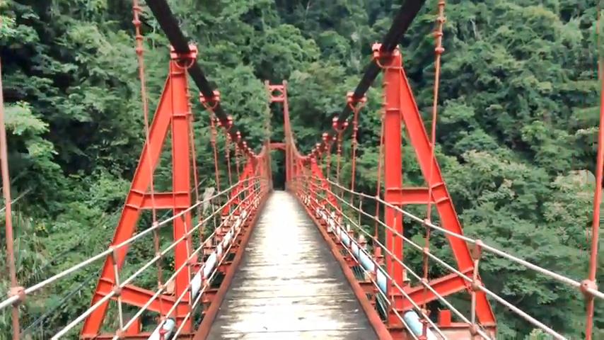The Rainbow Bridge in Dongpu Hot Spring Area. (Image: Internet Screenshot)