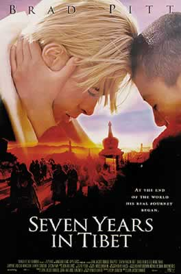 The film Seven Years in Tibet starring Hollywood star Brad Pitt, describes the friendship between Austrian mountaineers and Tibetan spiritual leader Dalai Lama and records the history of the People's Liberation Army's entry into Tibet. (Image: wikimedia / CC0 1.0)