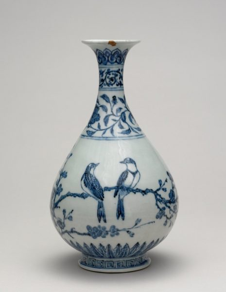 During the time of the Ming dynasty, white and blue porcelain vases were highly popular and regularly exported to Europe and the rest of Asia. (Image: wikimedia / CC0 1.0)