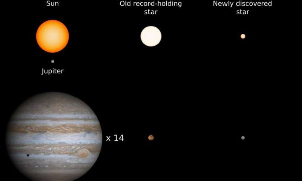 The new discovery is only 14% the size of the Sun and is the new record holder for the star with the smallest complement of heavy elements. It has about the same heavy element complement as Mercury, the smallest planet in our solar system./By Kevin Schlaufman/JHU.