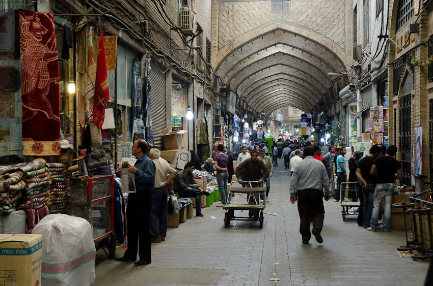 While the sanctions permit trade of humanitarian commodities, such as food and medicine, Iran's economy is already in bad shape and political unrest is rising. (Image: Kamyar Adl via Flickr CC BY 2.0)