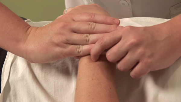 Pressing this acupuncture point on the forearm for two minutes daily can help to clear your constipation. (Image: Screen Shot/ Youtube)
