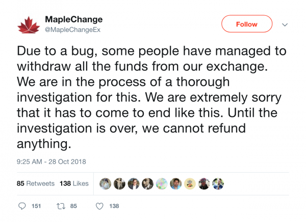 "Until the investigation is over, we cannot refund anything,"" tweeted the company. (Image: Twitter)"