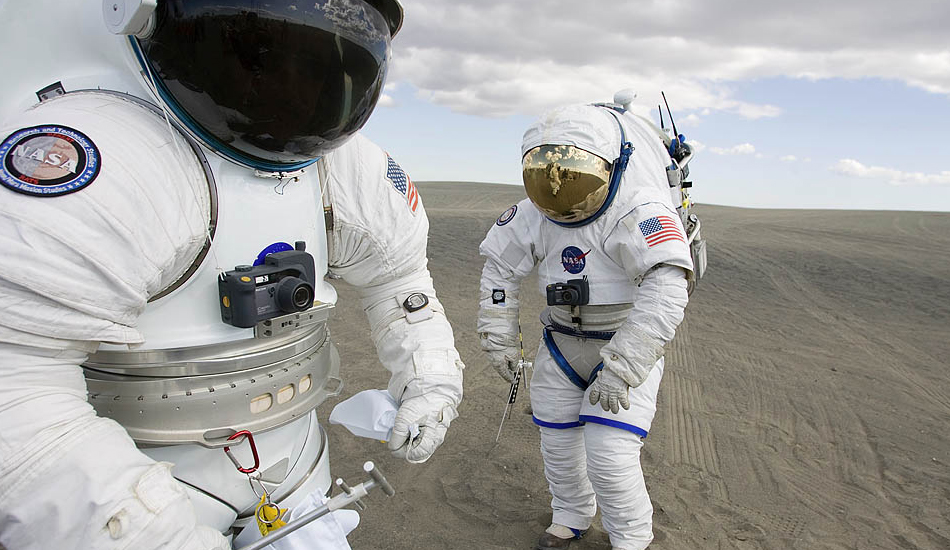 The big and bulky current generation spacesuit. (Image: NASA)
