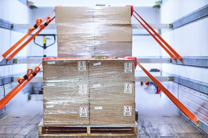 Certain pharmaceuticals need to be both transported and stored at the correct temperature, which creates the need for refrigerated storage facilities and transport trucks. (Image: FedEx)
