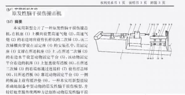A diagram of the so-called Brain death machine. The patent for this device is held by the Chinese military. (Image: TV Chosun via Vimeo/Screenshot)