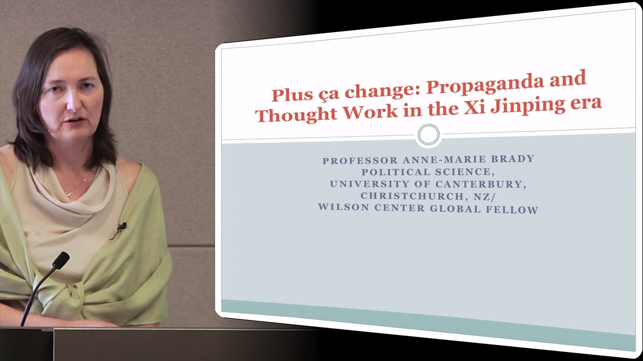 Anne-Marie Brady - Propaganda and Thought Work in the Xi Jinping Era 0-39 screenshot