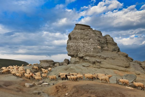 According to geologists, these rock formations are natural occurrences that have been formed due to the rocks being exposed to wind and water for thousands of years. (Image: romaniatourstore.com / CC0 1.0)