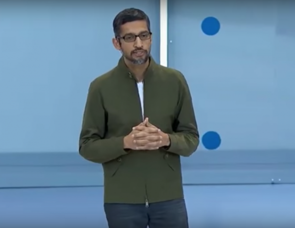 Google CEO Sundar Pichai faces growing opposition to his Dragonfly Project. (Image: YouTube/Screenshot)