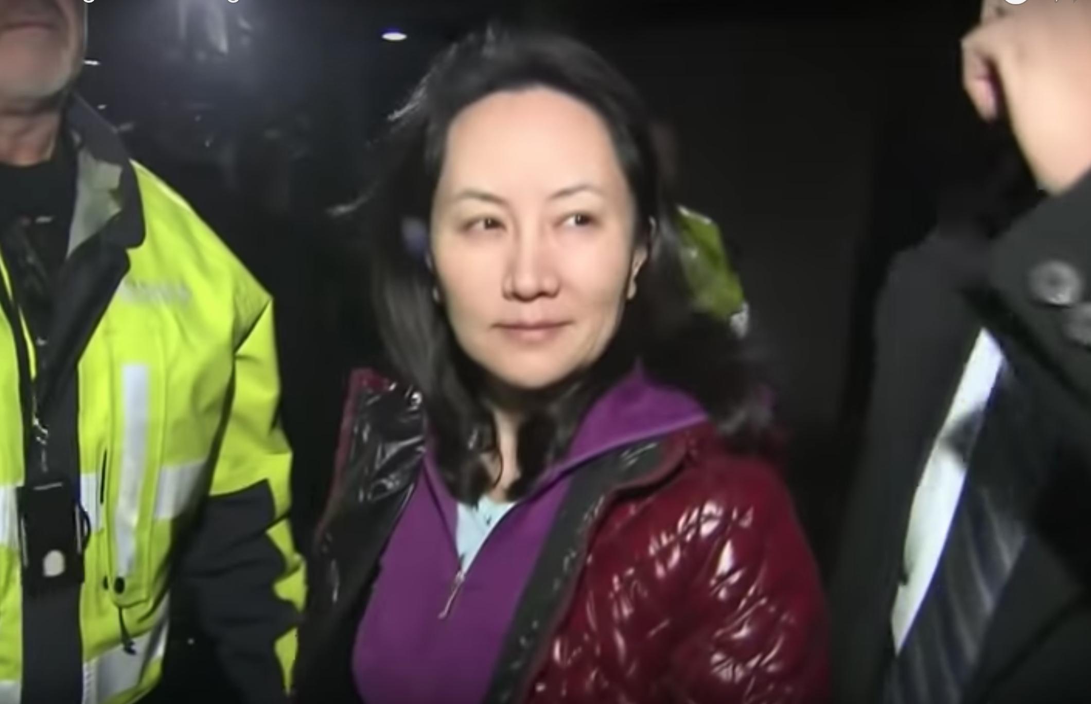 CFO of Huawei, Meng Wanzhou after her court hearing on December 10. (Image: YouTube/Screenshot)