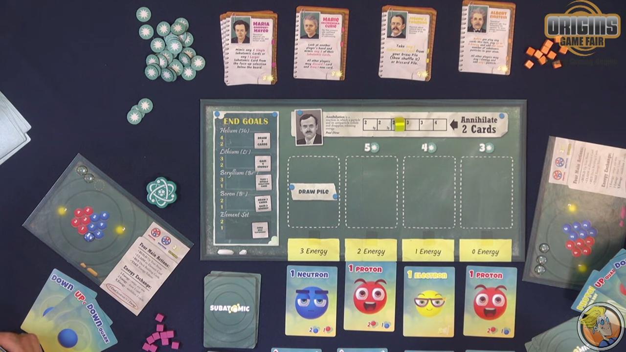 Subatomic- An Atom Building Game — game preview at Origins 2018 1-25 screenshot