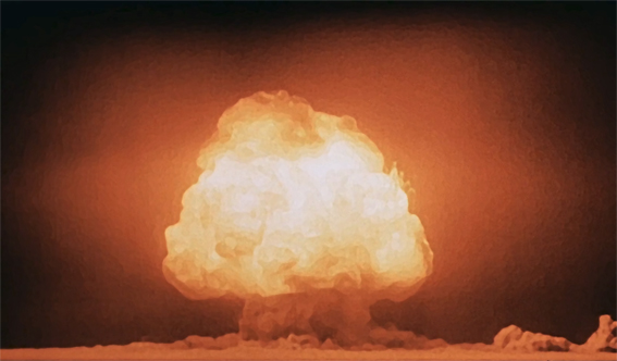 The Trinity test of the Manhattan Project was the first detonation of a nuclear weapon, which lead J. Robert Oppenheimer to recall verses from the Hindu scripture Bhagavad Gita. (Image: wikimedia / CC0 1.0)