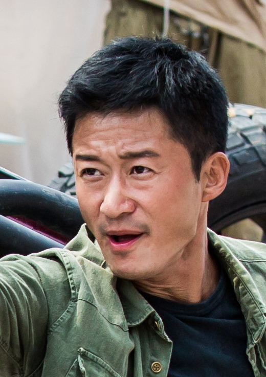 Wu Jing, on the set of Wolf Warriors 2. (Image: Celinahoran via flickr CC BY-SA 4.0)