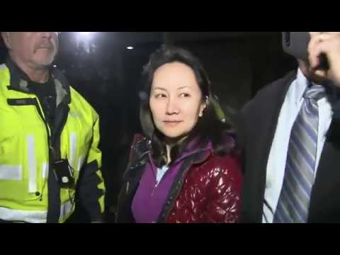 CFO of Huawei, Meng Wanzhou after her court hearing on December 11. (Image: YouTube/Screenshot)