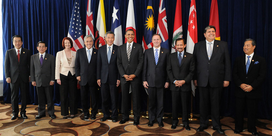 A summit with leaders of the states of the Trans-Pacific Strategic Economic Partnership Agreement (TPP) in 2010. (Image: Gobierno de Chile via wikimedia CC BY 2.0 )