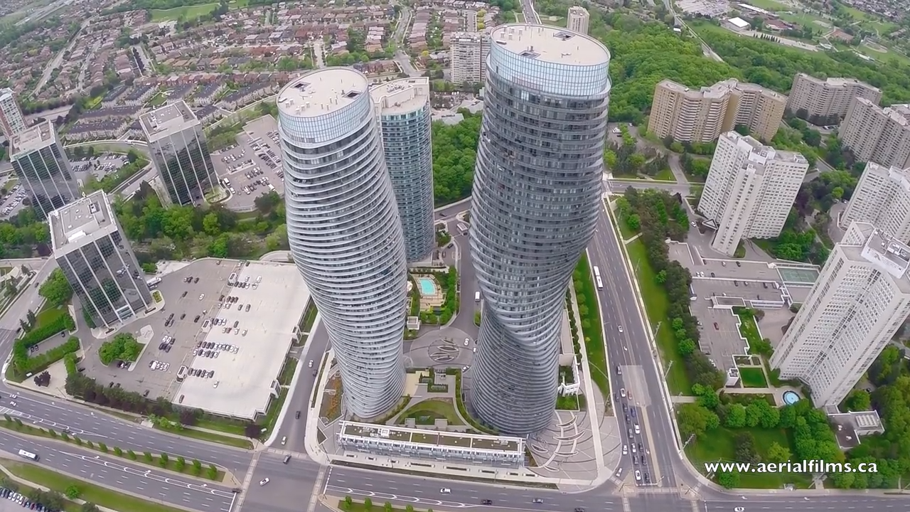 Drone view of the city of Mississauga, ON. 2-24 screenshot