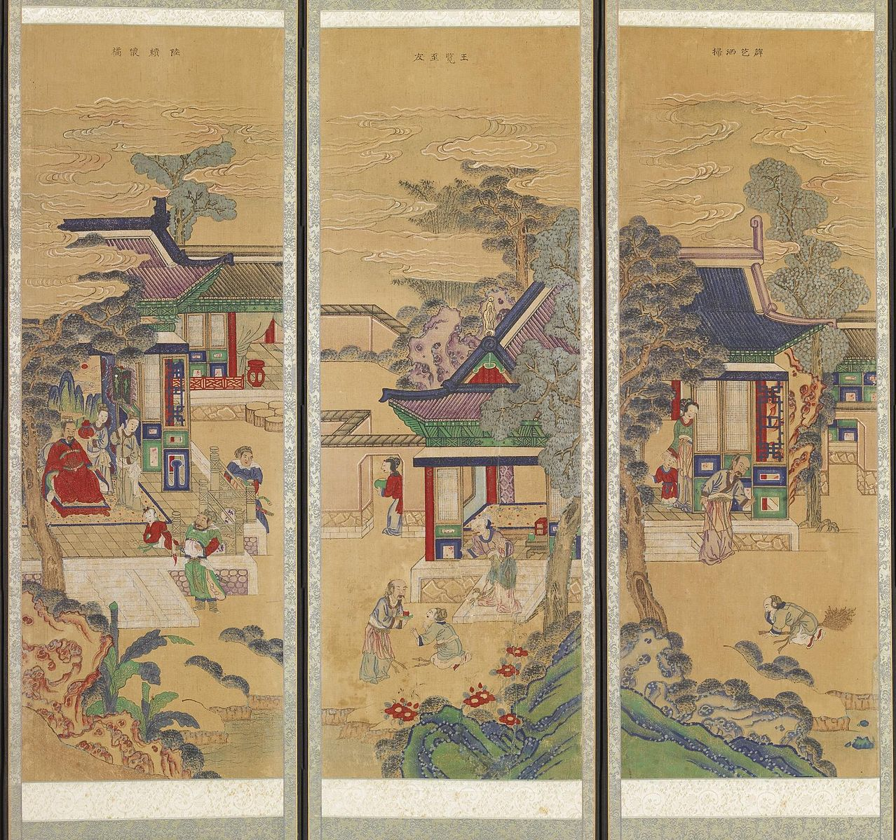 Ten-panel Folding Screen with Scenes of Filial Piety. Korea. (Image Credit: Walters Art Museum [Public domain])