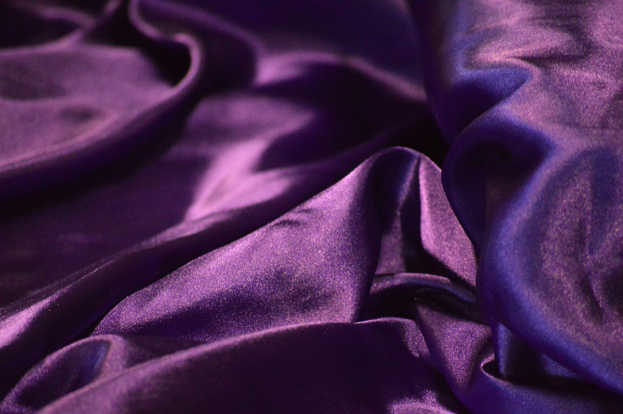 Purple Shiny Prestigious Royalty Crumpled Silk. Both her husband and the master were amazed at how much she had accomplished in just one night. (Image Credit: Maxpixel, CC0 1.0)