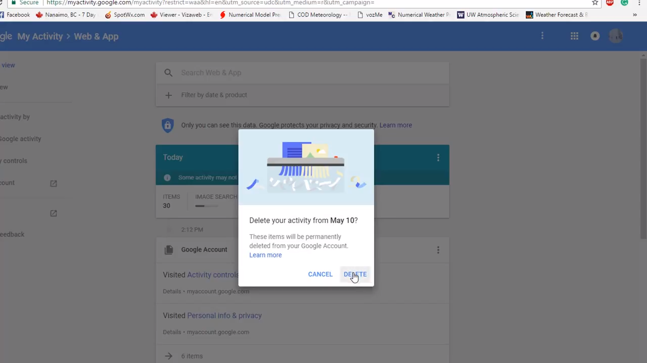 Remove Google Account Search Activity Off All Your Devices 3-39 screenshot