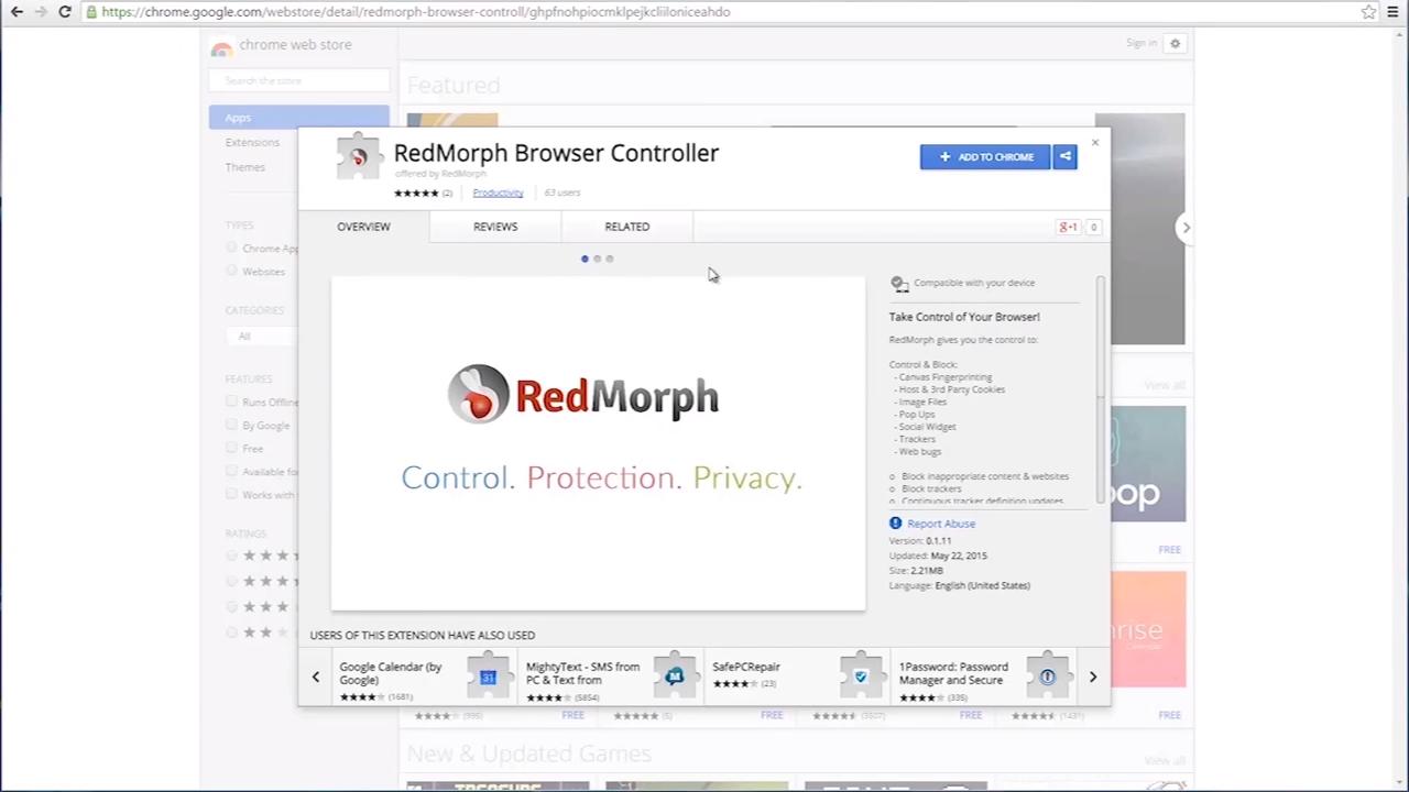 The RedMorph Browser Controller 0-7 screenshot