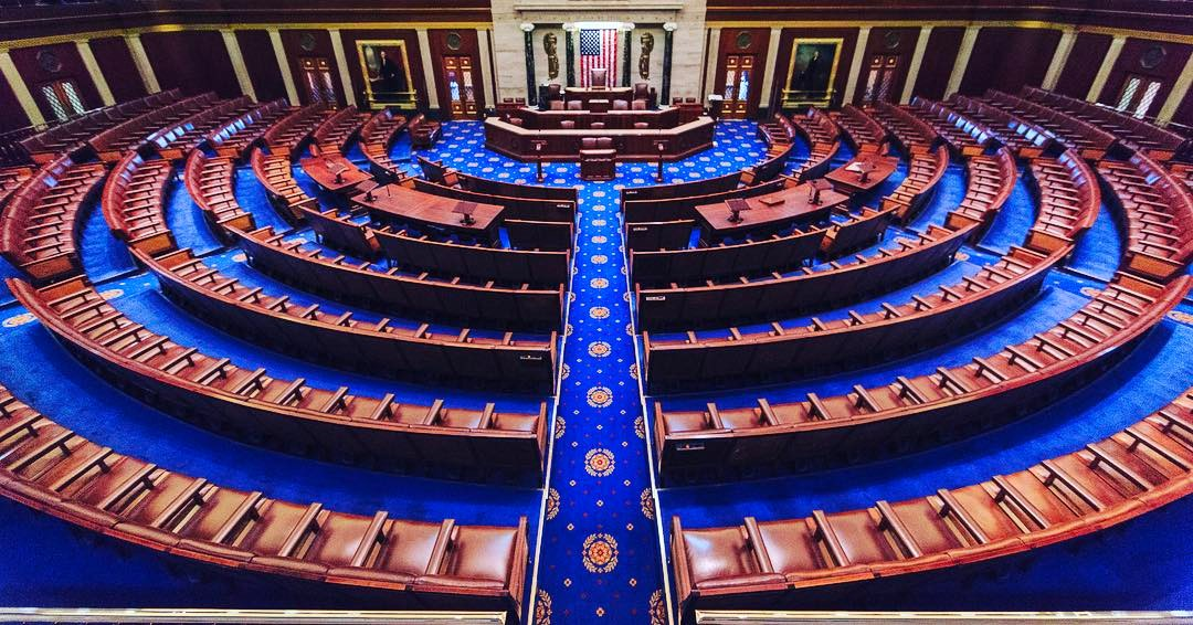 U.S. House of Representatives chamber at the United States Capitol in Washington, D.C. (Image: wikimedia / CC0 1.0)
