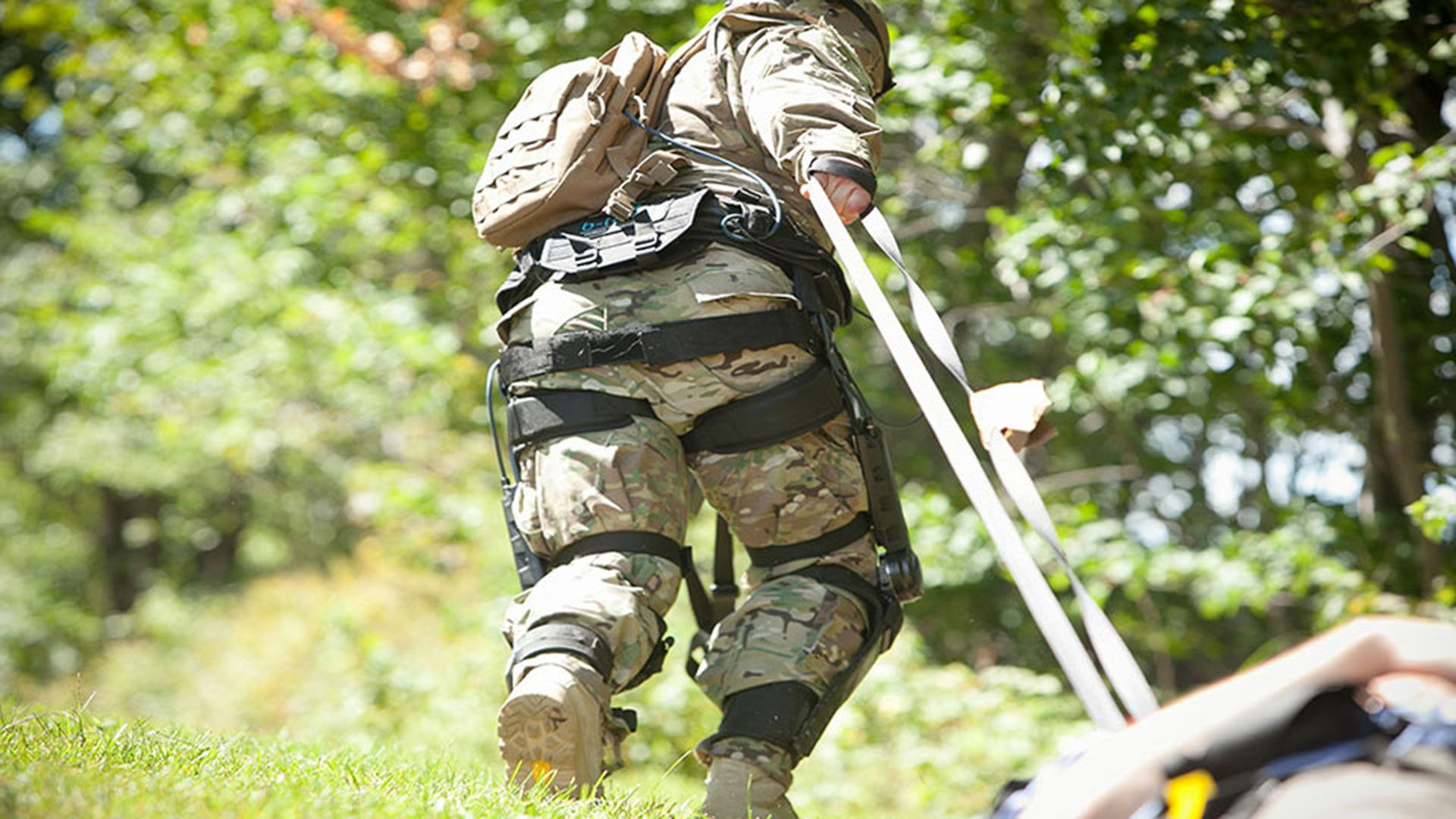 The ONYX exoskeleton going through field trials. (Image: ockheedmartin / CC0 1.0)