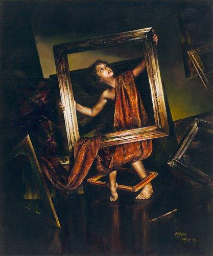 """""""Between the Frames,"""" 2012. Acrylic on canvas. (Image Courtesy of Akiane Kramarik)"""
