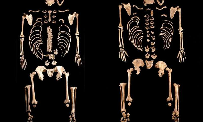 La Braña 1 and 2 Mesolithic hunter-gatherers (Leon, Spain), found to be brothers. (Credit: Julio Manuel Vidal Encinas)