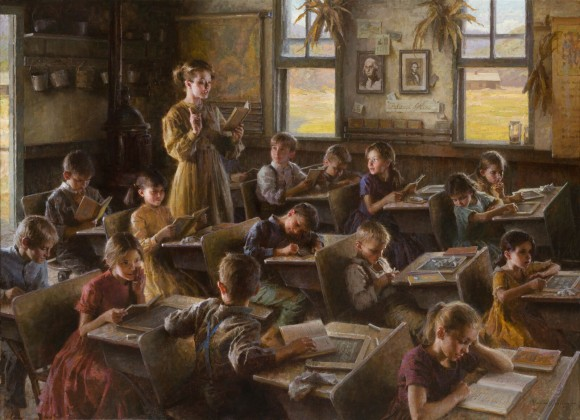 """Country Schoolhouse, 1879."" Oil on canvas, 44 inches by 60 inches. Winner of the Autry Museum David P. Usher Patrons' Choice Award in 2010. (Image Courtesy of Morgan Weistling)"