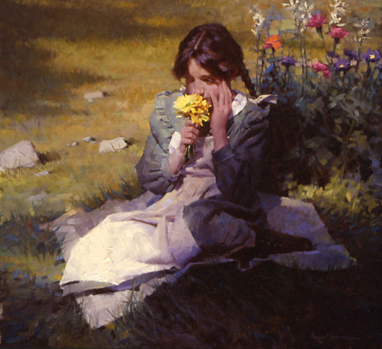 """Day Dreamer"" by Morgan Weistling. Oil on canvas, 22 inches by 24 inches. (Image Courtesy of Morgan Weistling)"