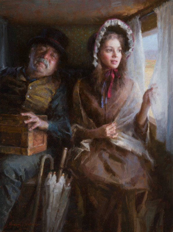 """Stagecoach"" by Morgan Weistling, 2012. Oil on canvas, 24 inches by 18 inches. (Image Courtesy of Morgan Weistling)"