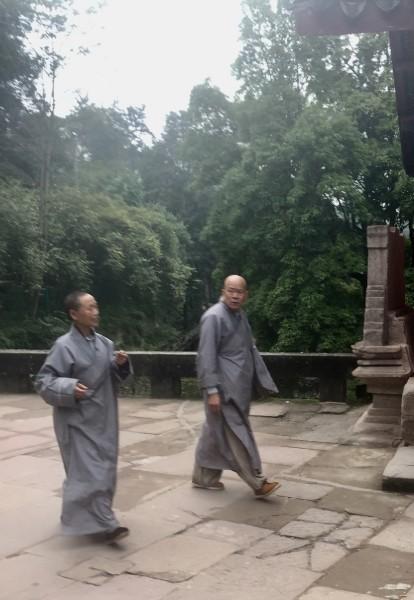 Buddhist monks at Dazu Shike. (Image: S.Ruel/Chongqing)