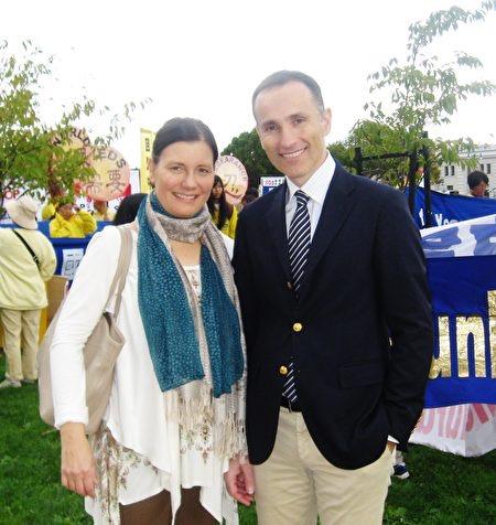 Swedish King's Entrepreneurship Award winner, Vassius Zupondi, and his wife