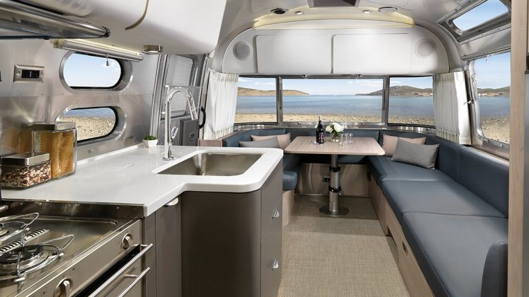 An RV is designed in such a way that it has all the comforts that you would find at home or in a hotel room. (Image: Airstream)