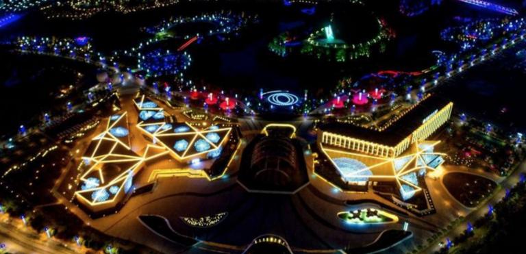 The Pingtang Astronomy Town night scene. (Image: zgtianyan.cn)