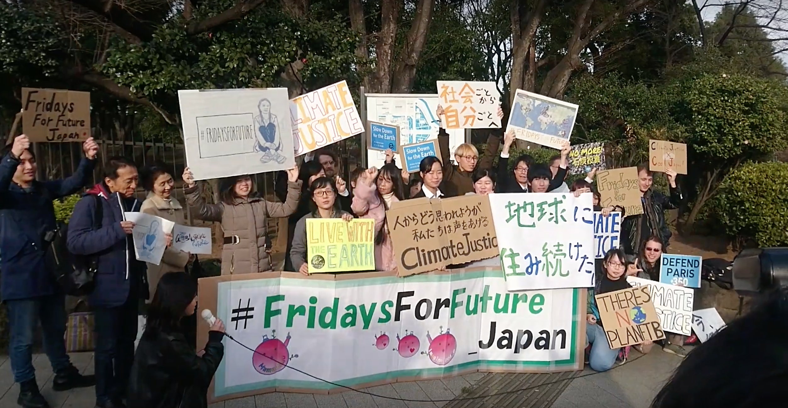 Students from around the world skipped a day in class in support of the protests. (Image: YouTube/Screenshot)