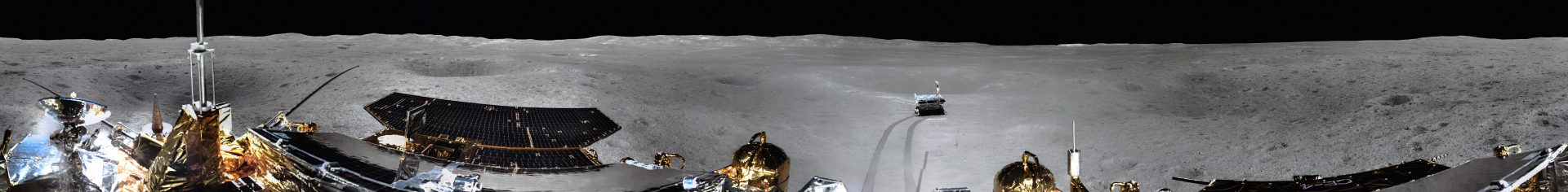 The first panorama from the far side of the Moon. (Image: CNSA via flickr CC BY 4.0)