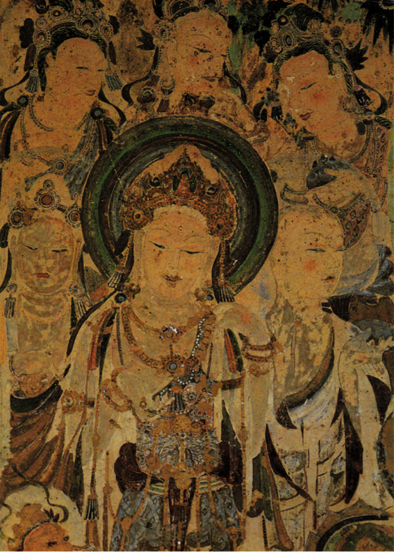 Mural of Bodhisattva Guanyin, 618-704 AD. Tang Dynasty, Mogao Caves, Dunhuang.(Image: wikimedia / CC0 1.0)