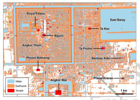 Location map of Angkor. Credit: PNAS.