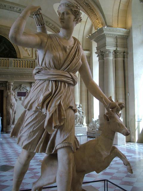 Statue of Artemis in the Louvre Museum, Paris, France. (Image: NEN / CC0 1.0)