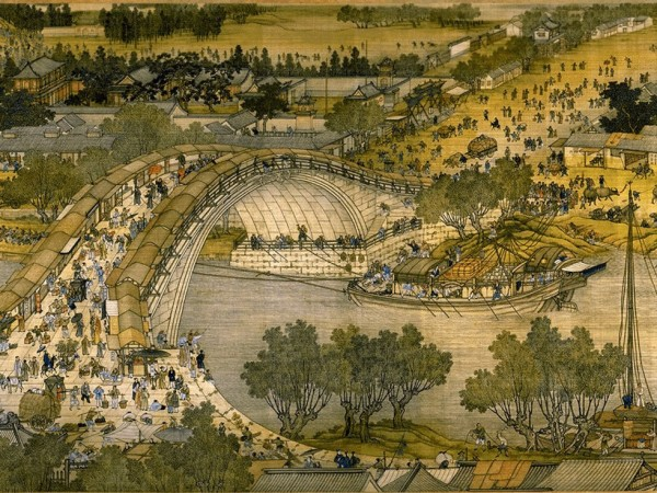 """Detail of """"Along the River During the Qingming Festival"""" (Image: Public Domain)"""