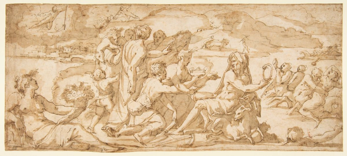 """The First Fruits of the Earth Offered to Saturn"" by Giorgio Vasari (1511–1574). Renaissance artists looked back to the ancient classic themes to express nuances of the human condition. (Image: The Metropolitan Museum of Art)"