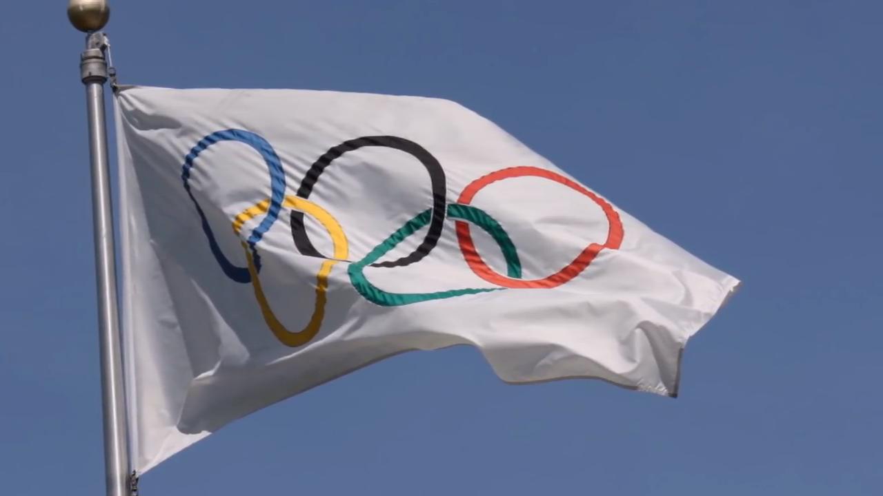 Olympics rings flag