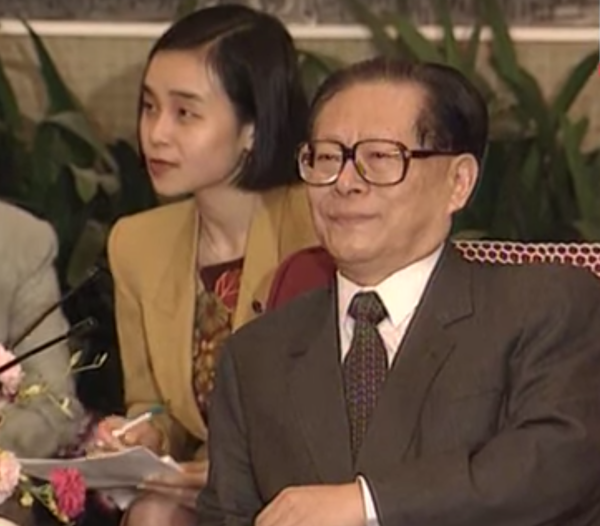 Jiang Zemin, the general secretary of the CCP, believed in the existence of gods and spirits. (Image: YouTube/Screenshot)