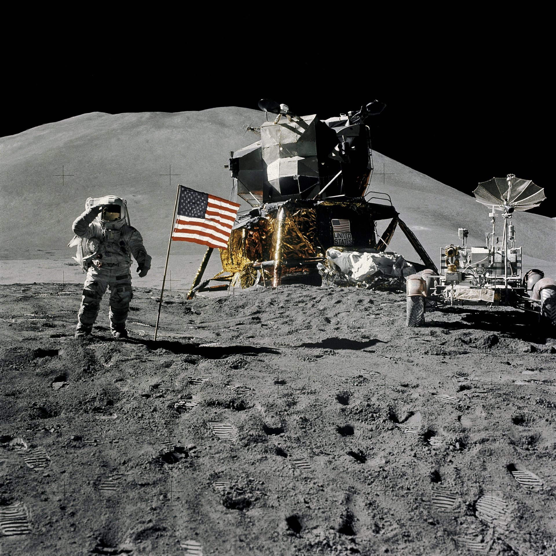 Compared to the past when only a couple of nations like the U.S. and Russia had the technology to explore the moon, the race to extract helium-3 is seeing increasing competition from developing countries like China and India. (Image: NASA)
