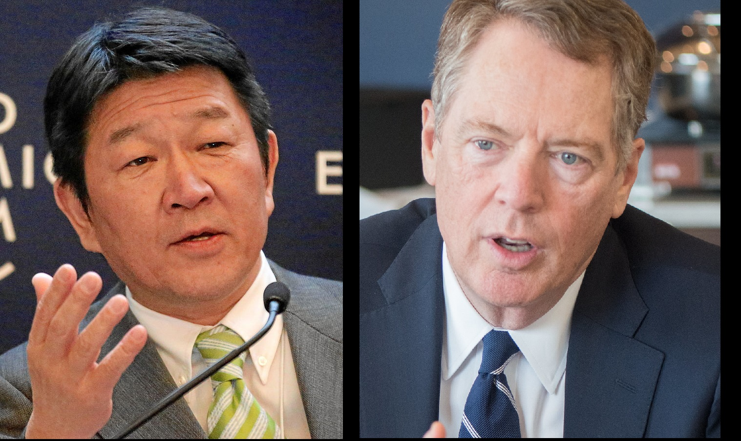 """According to reports, U.S. Trade Representative Robert Lighthizer (Image: USDA Photo by Tomasina Brown) urged the Japanese trade negotiator, Economic and Fiscal Policy Minister Toshimitsu Motegi, to """"announce something this time around."""" (Image: World Economic Forum/CC BY-SA 2.0)"""