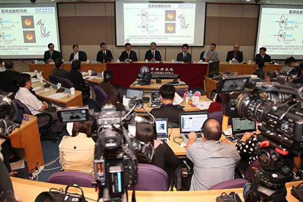 Little known to the Taiwan team behind the black hole The Taiwan Academia Sinica held a global press conference and announced that the EHT program successfully captured the first image of a supermassive black hole. (Image: Central News Agency)